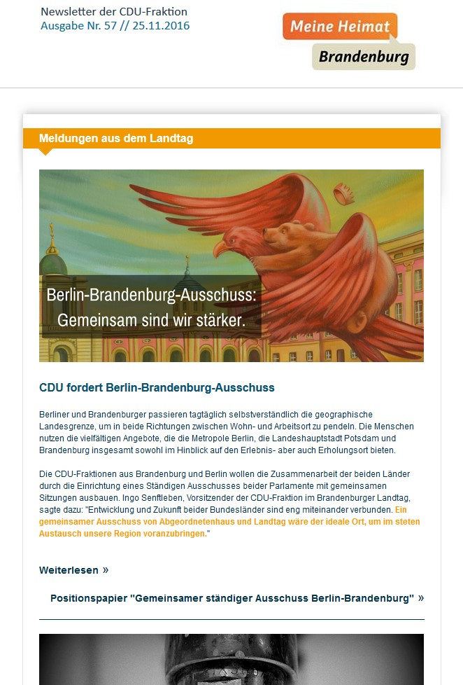 CDU Fraktion - Newsletter