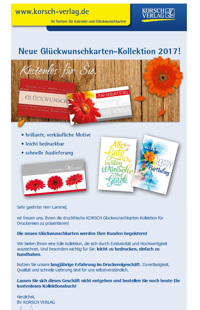Korsch Newsletter