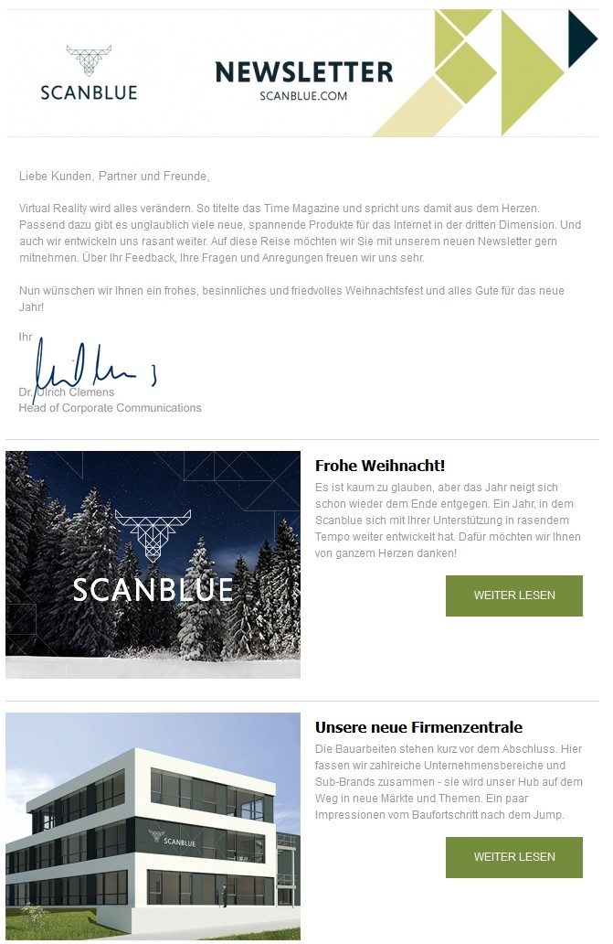 SCANBLUE Newsletter