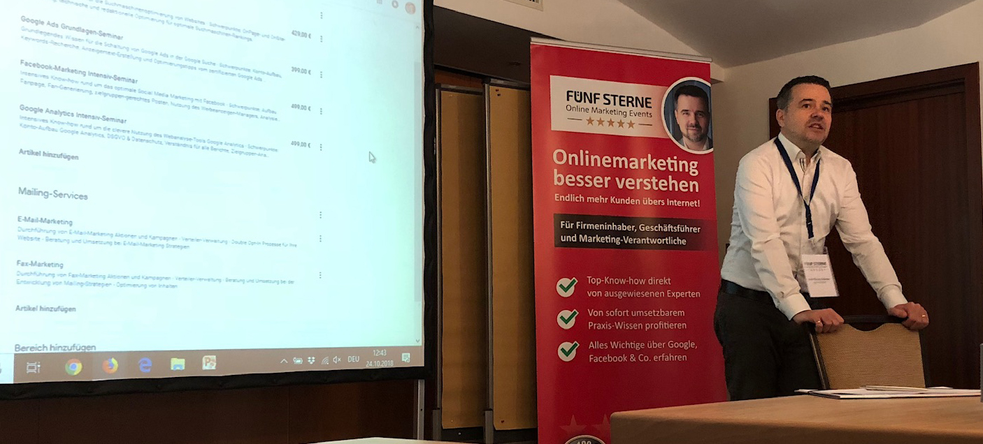Online-Marketing-Seminar mit Sven Deutschländer